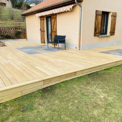 Créasol - Terrasse extérieure bois | Auvergne (63)