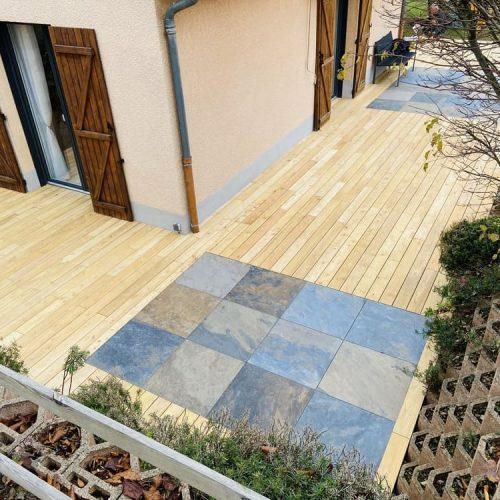 Créasol Auvergne - Terrasse extérieure bois à Clermont-Ferrand (63)