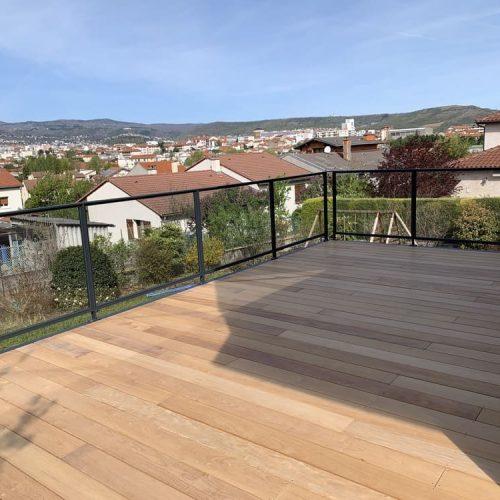 Créasol Auvergne - Terrasse extérieure bois en Auvergne